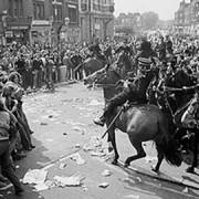 The battle of Lewisham. Photo: Paul Trevor