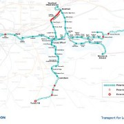 A map of the proposed DLR extension
