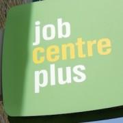 Job Centre Plus sign London photo