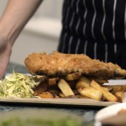 Maddy's fish and chips with homemade slaw Pic: Maddy's Fish Bar