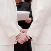 Same-sex wedding. Pic: Laura Dye