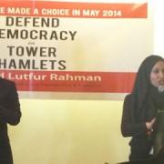 Former Mayor Lutfur Rahman and Councillor Rabina Khan