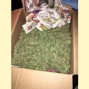 Officers tracked down and arrested a man who threw a box of weed out of a van Pic: Roads & Transport MPS