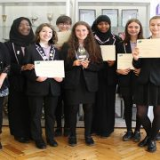 Winners of Carneige Award. Credit: Clapton Girls'' Academy
