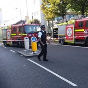 Two explosions outside Hackney Town Hall lead to the street being evacuated. Pic: @MyLocalNerd