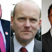 Philip Glanville - Mayor of Hackney (left), John Biggs - Mayor of Tower Hamlets (centre), Damien Egan - Mayor of Lewisham (right). Pic: Roza Andreou