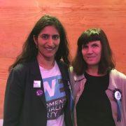 Left to right, Harini Iyengar and Catharine Mayer. Pic: Begum Whitehead